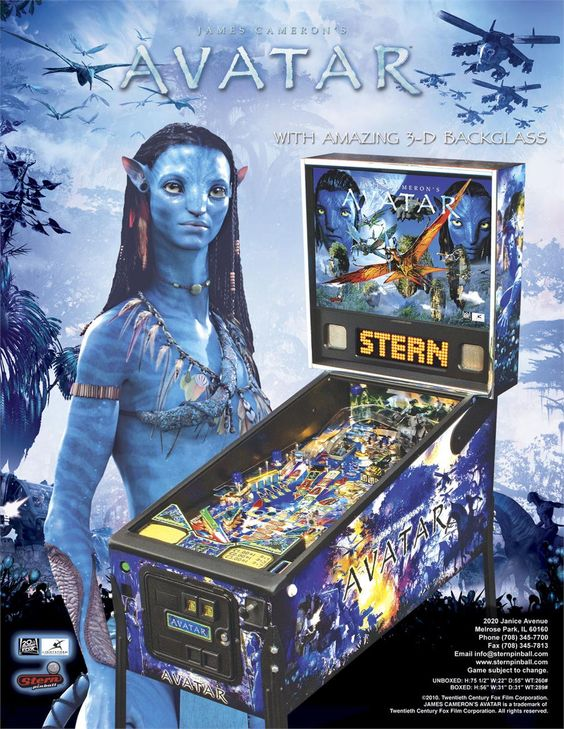 avatar by stern pinballs